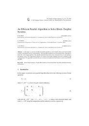 An Efficient Parallel Algorithm to Solve Block–Toeplitz ... - Springer