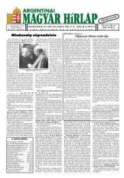 Argentínai Magyar Hírlap IV. évf. 38. sz. 2008. május (LXXIX ... - EPA