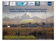 Cambio Climático, Disponibilidad de Recursos Hídricos y Medidas ...