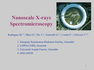 Nanoscale X-rays Spectromicroscopy - CNRS