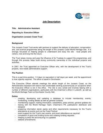 job_description_admin_assist - Jurassic Coast