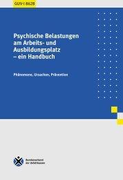 GUV-I 8628 - Psychische Belastungen am Arbeits- und - ErgonAssist