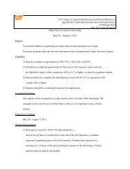 Philip Morris Internship Application for 2013 - Agricultural ...