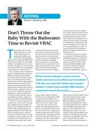 Don't Throw Out the Baby With the Bathwater: Time to Revisit VBAC