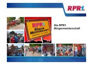 RPR1. Bürgermeisterschaft 2011 - RadioCom SW GmbH
