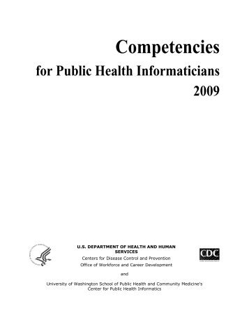 Competencies for Public Health Informaticians - Association of State ...