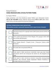 Borang Permohonan Dana Mudahcara ( Facilitation Fund ) - TERAJU