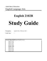 English 2102B Study Guide 2005-06