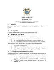 Nunavut Tunngavik Inc. VEHICLE USE POLICY Approved by the ...
