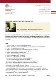 Dosha-Test: Welcher Ayurveda-Typ sind Sie? - Ayurveda Gesundheits