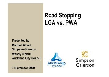 Road Stopping LGA vs. PWA - LAPA