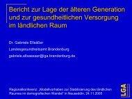 Bericht zur Lage der älteren Generation und zur gesundheitlichen ...