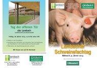 Einladung Lambacher Schweinefachtag - Landwirt.com