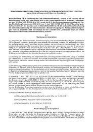 Satzung des Zweckverbandes Wasserversorgung und ... - ZWAR