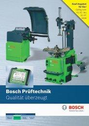Bosch Prüftechnik Qualität überzeugt - Bosch - Werkstattportal