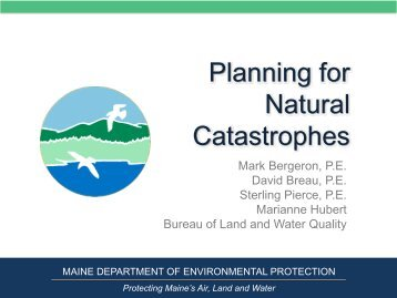 Planning for Natural Catastrophes