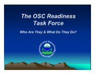 The OSC Readiness Task Force