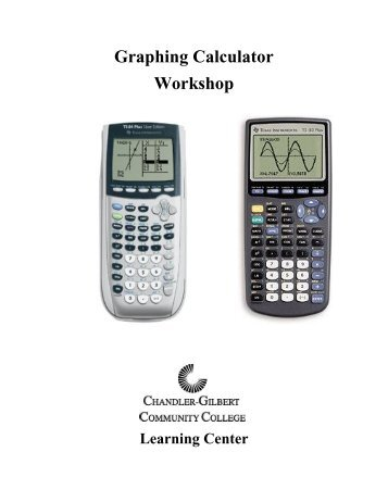 Graphing Calculator Workshop III