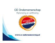 CE Ondernemerschap - Ondernemen