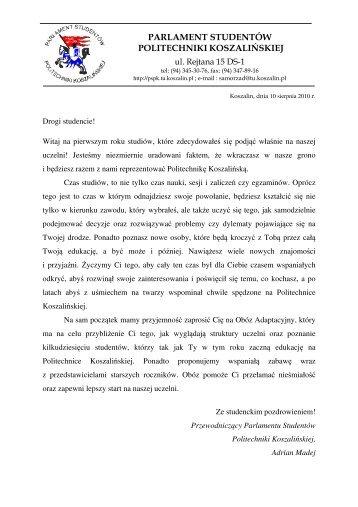 parlament studentów politechniki koszalińskiej - Koszalin