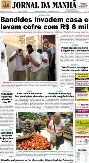 Bandidos invadem casa e levam cofre com R$ 6 mil - Jornal da Manhã