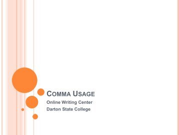 Comma Usage - Darton College
