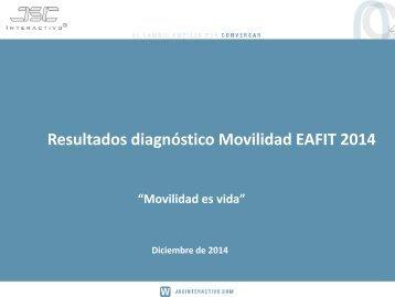 Resultados diagnostico movilidad EAFIT