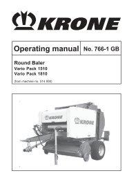 Operating manual No. 766-1 GB