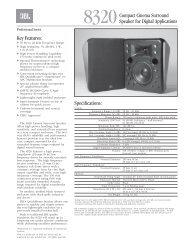 8320 Specs Sheet - Full Compass