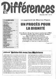 LA DIGNITÉ - Archives du MRAP