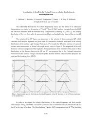 Investigation of the affect of a Coulomb force on velocity distributions ...