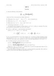 CP3/4: Problem Sheets for MT-09