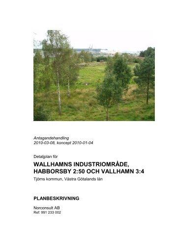 wallhamns industriområde, habborsby 2:50 och ... - Tjörns kommun