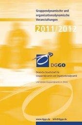 Kalender 2012 - Deutsche Gesellschaft für Gruppendynamik und ...