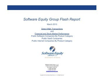 Copy of SEG Index - Monthly Report - vSD - Software Equity Group