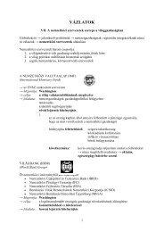 7. A nemzetközi szervezetek szerepe a világgazdaságban