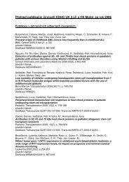 Publikační činnost v roce 2006 - Klinika dětské hematologie a ...