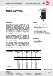 SC350 / SC360 Electronic pressure switch with a four digit LED ...
