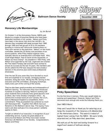 Honorary Life Memberships Pinky Speechless - Nanaimo Ballroom ...