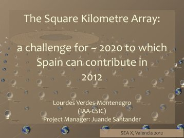 The Square Kilometre Array: a challenge for - AMIGA : Analysis of ...