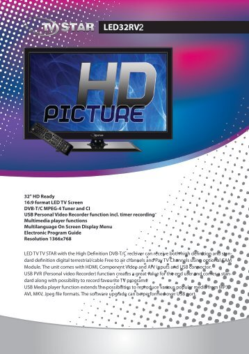 Data sheet - TV STAR