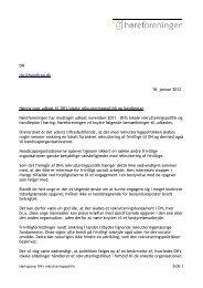 Høringssvar over udkast til DH's ... - Høreforeningen