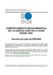 Comportamiento medioambiental de la agricultura en la OCDE ...