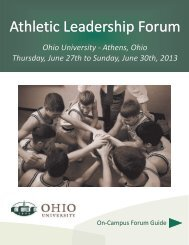 On-Campus Workshop Student Guide - Athletic Administration and ...