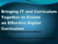 Bringing IT & Curriculum Together - WEMTA
