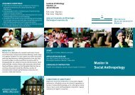 Master in Social Anthropology