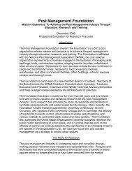 Pest Management Foundation - National Pest Management ...