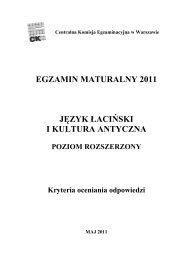 poziom rozszerzony - BIP CKE - Centralna Komisja Egzaminacyjna