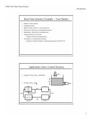 Real-Time Systems: Example / Case Studies - TAMU Computer ...