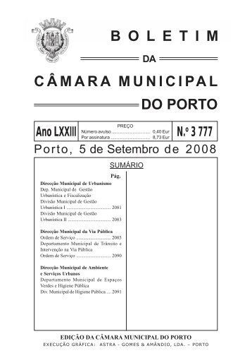 boletim 3777 - Câmara Municipal do Porto